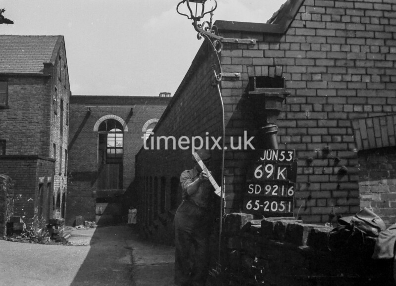 SD921669K, Ordnance Survey Revision Point photograph in Greater Manchester