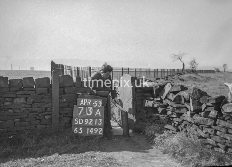 SD921373A, Ordnance Survey Revision Point photograph in Greater Manchester