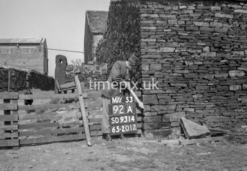 SD931492A, Ordnance Survey Revision Point photograph in Greater Manchester