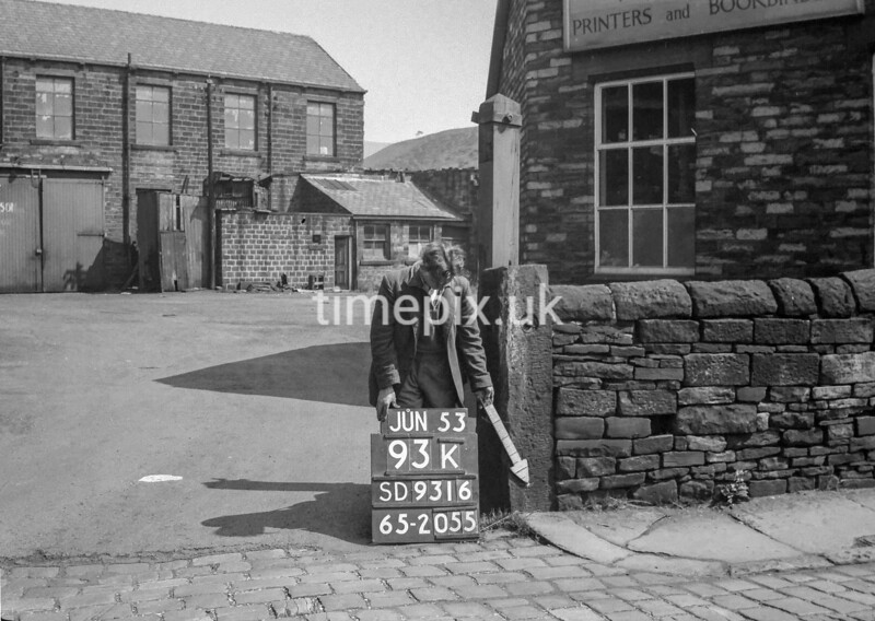 SD931693K, Ordnance Survey Revision Point photograph in Greater Manchester