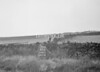 SD941797A, Man marking Ordnance Survey minor control revision point with an arrow in 1950s