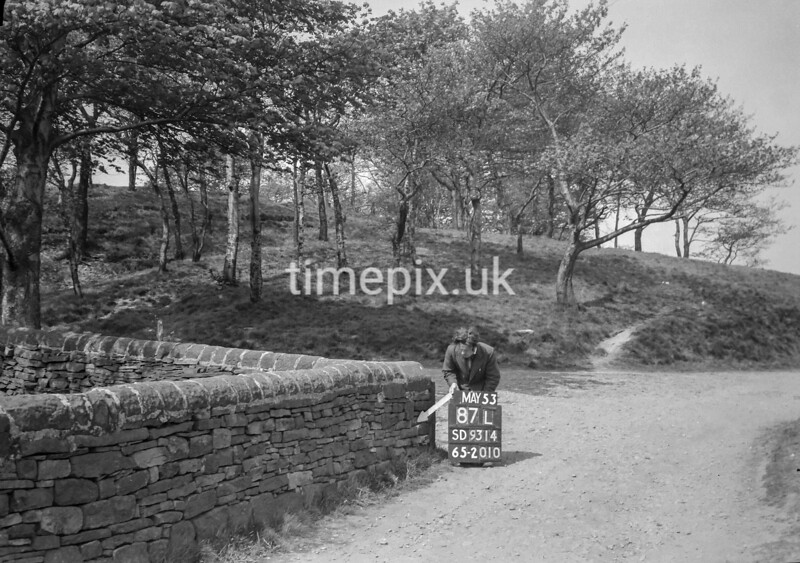 SD931487L, Ordnance Survey Revision Point photograph in Greater Manchester