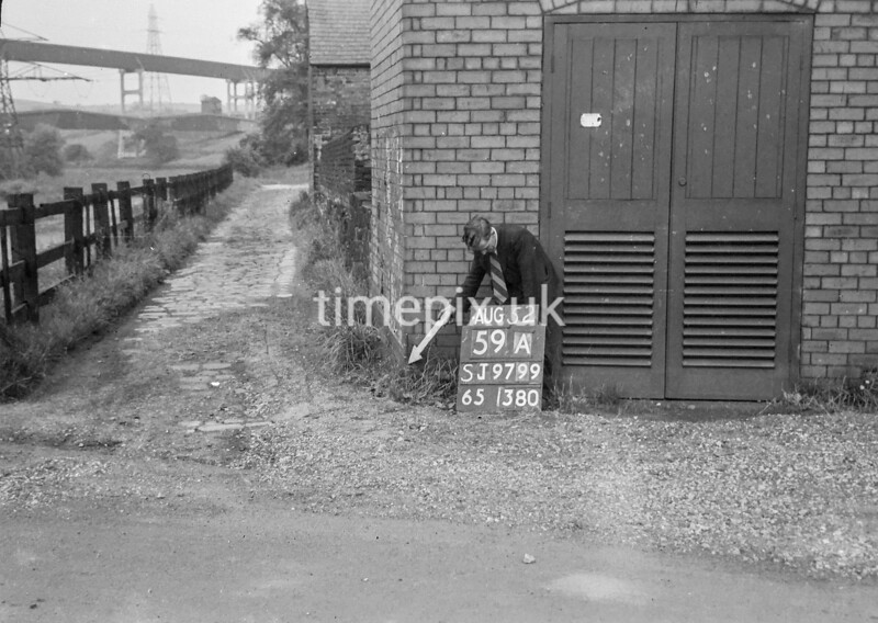 SJ979959A, Ordnance Survey Revision Point photograph in Greater Manchester