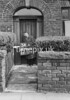 SD940634A, Man marking Ordnance Survey minor control revision point with an arrow in 1950s