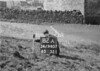 SD940782A, Man marking Ordnance Survey minor control revision point with an arrow in 1950s