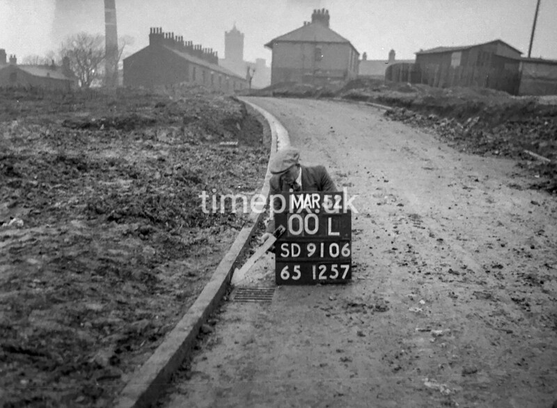 SD910600L, Ordnance Survey Revision Point photograph in Greater Manchester