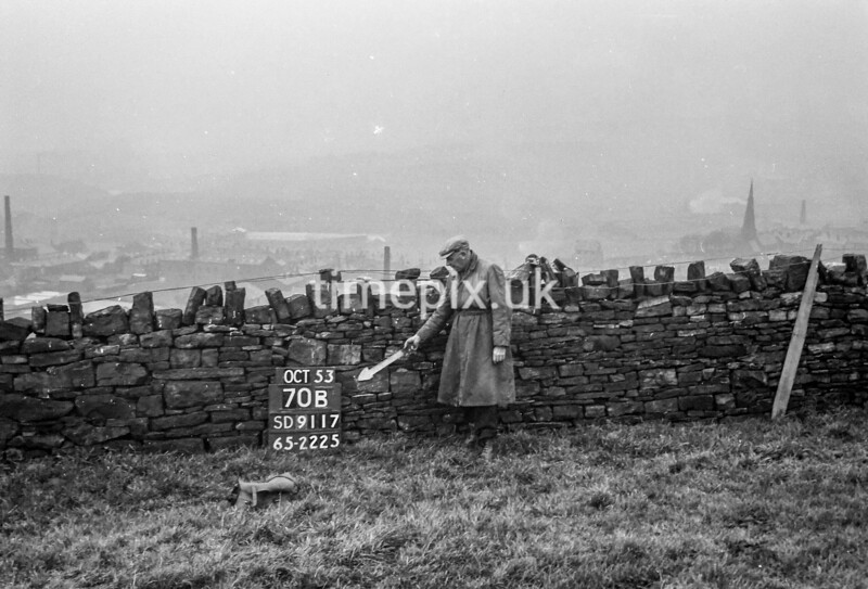SD911770B, Ordnance Survey Revision Point photograph in Greater Manchester