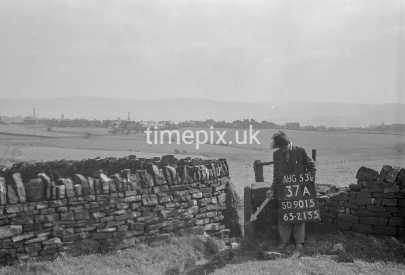 SD901537A, Ordnance Survey Revision Point photograph in Greater Manchester