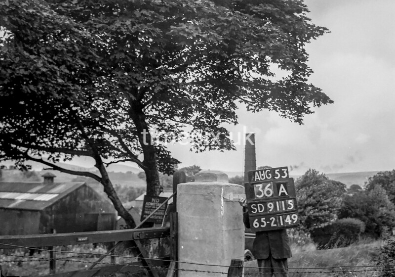 SD911536A, Ordnance Survey Revision Point photograph in Greater Manchester