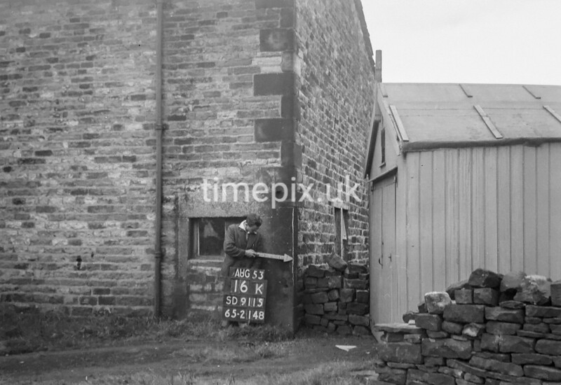 SD911516K, Ordnance Survey Revision Point photograph in Greater Manchester