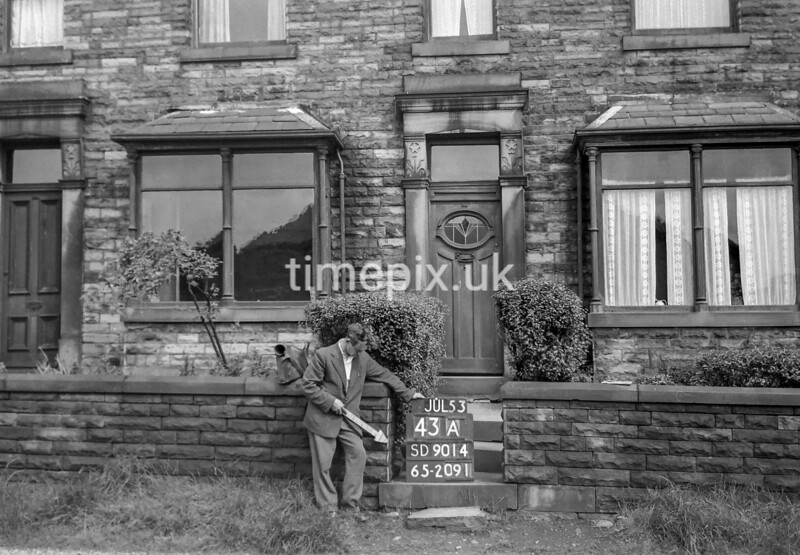 SD901443A, Ordnance Survey Revision Point photograph in Greater Manchester