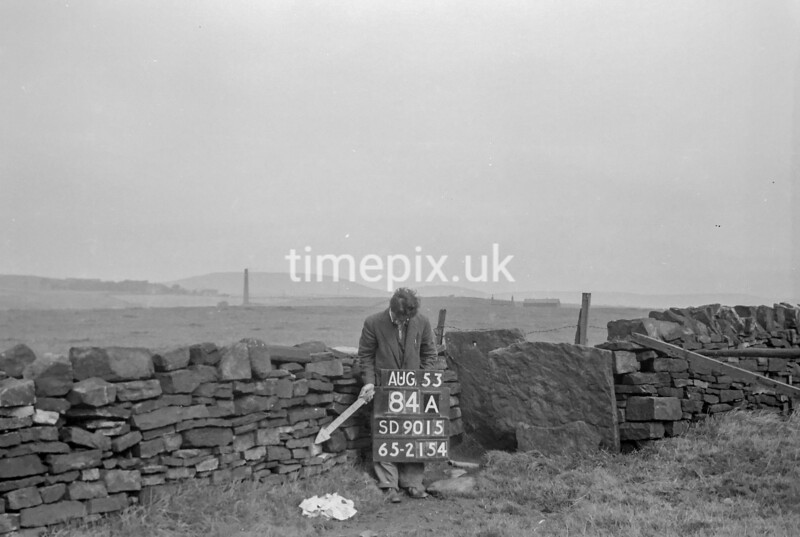 SD901584A, Ordnance Survey Revision Point photograph in Greater Manchester