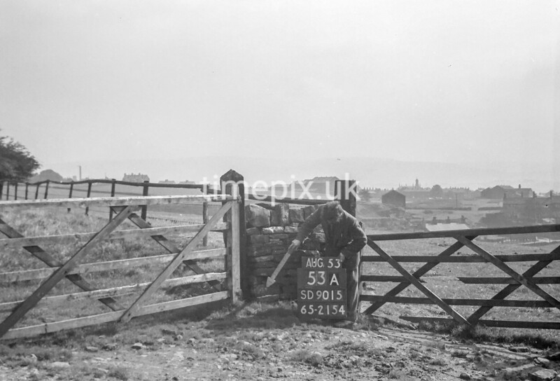 SD901553A, Ordnance Survey Revision Point photograph in Greater Manchester