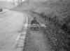 SD941110B, Man marking Ordnance Survey minor control revision point with an arrow in 1950s