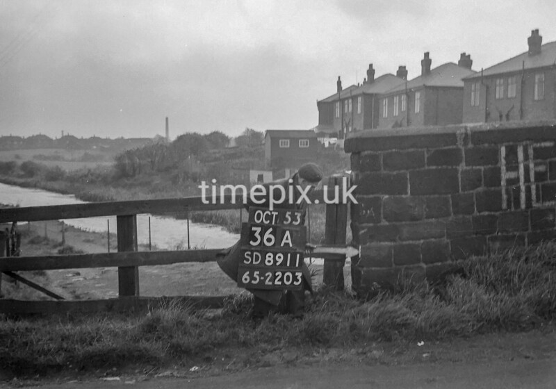 SD891136A, Ordnance Survey Revision Point photograph in Greater Manchester