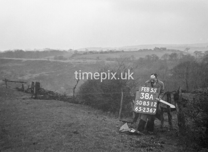 SD851238A, Ordnance Survey Revision Point photograph in Greater Manchester
