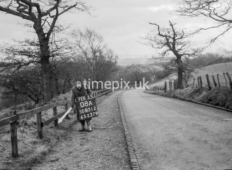 SD851208A, Ordnance Survey Revision Point photograph in Greater Manchester