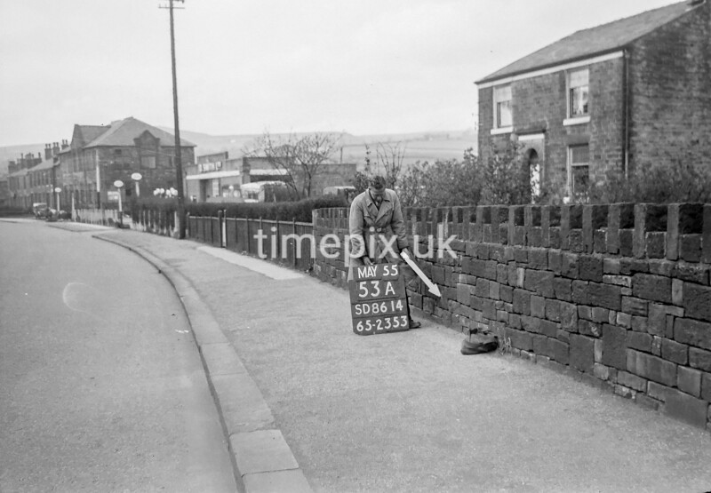 SD861453A, Ordnance Survey Revision Point photograph in Greater Manchester