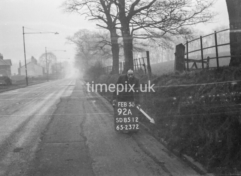SD851292A, Ordnance Survey Revision Point photograph in Greater Manchester