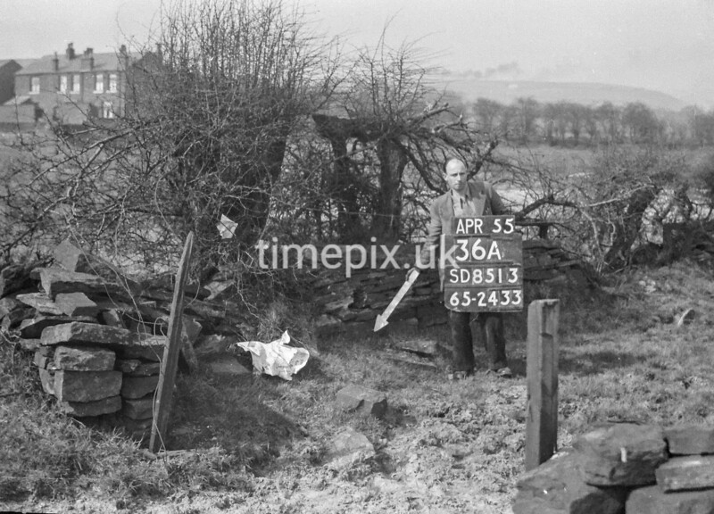 SD851336A, Ordnance Survey Revision Point photograph in Greater Manchester