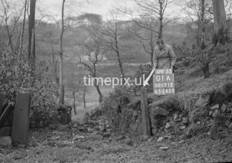 SD871201A, Ordnance Survey Revision Point photograph in Greater Manchester