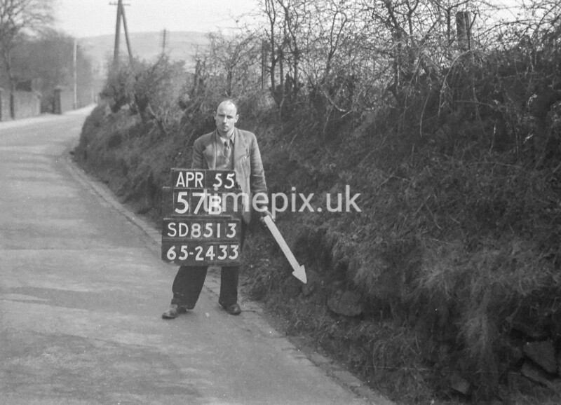 SD851357B4, Ordnance Survey Revision Point photograph in Greater Manchester
