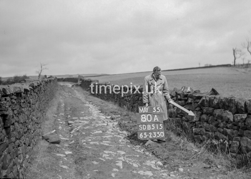 SD851580A, Ordnance Survey Revision Point photograph in Greater Manchester