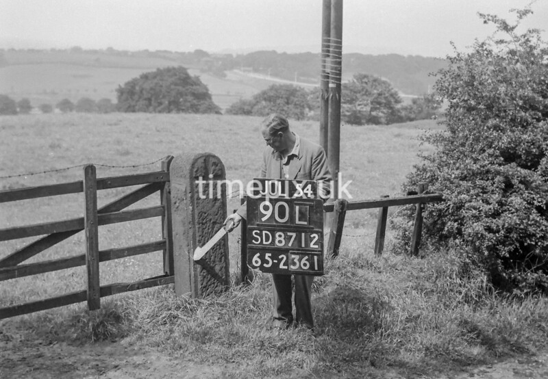 SD871290L, Ordnance Survey Revision Point photograph in Greater Manchester