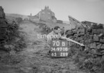 SD970870B, Man marking Ordnance Survey minor control revision point with an arrow in 1950s