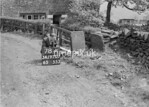 SD970778A1, Man marking Ordnance Survey minor control revision point with an arrow in 1950s