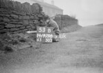 SD970653B, Man marking Ordnance Survey minor control revision point with an arrow in 1950s