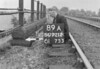SD721289A, Man marking Ordnance Survey minor control revision point with an arrow in 1940s
