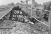 SD721289B, Man marking Ordnance Survey minor control revision point with an arrow in 1940s
