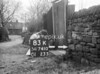 SD741083K, Man marking Ordnance Survey minor control revision point with an arrow in 1940s