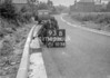 SD731093B, Man marking Ordnance Survey minor control revision point with an arrow in 1940s
