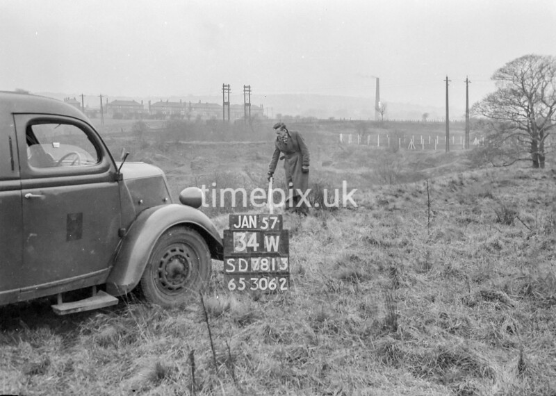 SD781334W, Ordnance Survey Revision Point photograph in Greater Manchester