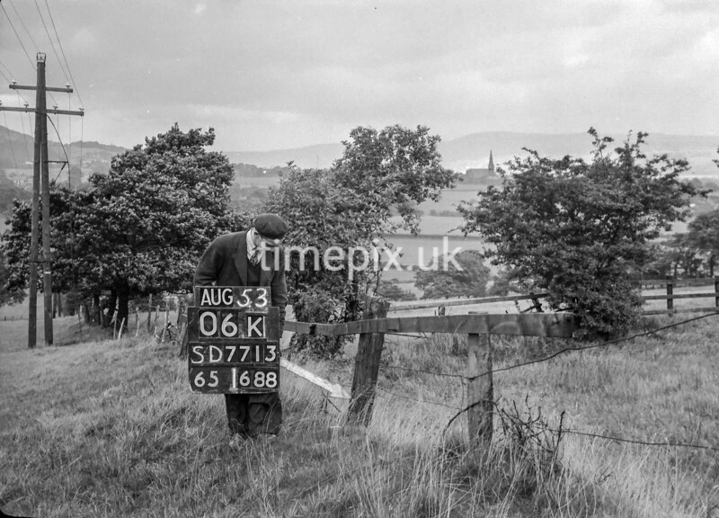 SD771306K, Ordnance Survey Revision Point photograph in Greater Manchester