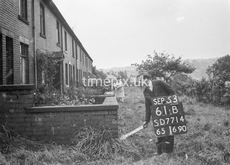 SD771461B, Ordnance Survey Revision Point photograph in Greater Manchester
