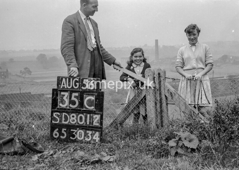 SD801235C1, Ordnance Survey Revision Point photograph in Greater Manchester