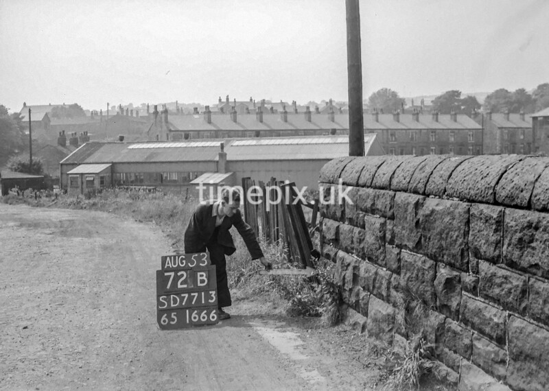 SD771372B, Ordnance Survey Revision Point photograph in Greater Manchester