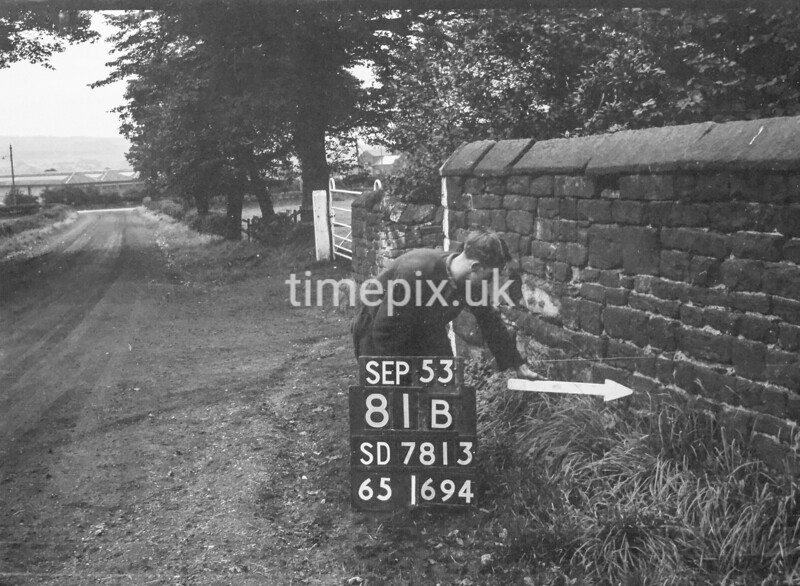 SD781381B, Ordnance Survey Revision Point photograph in Greater Manchester