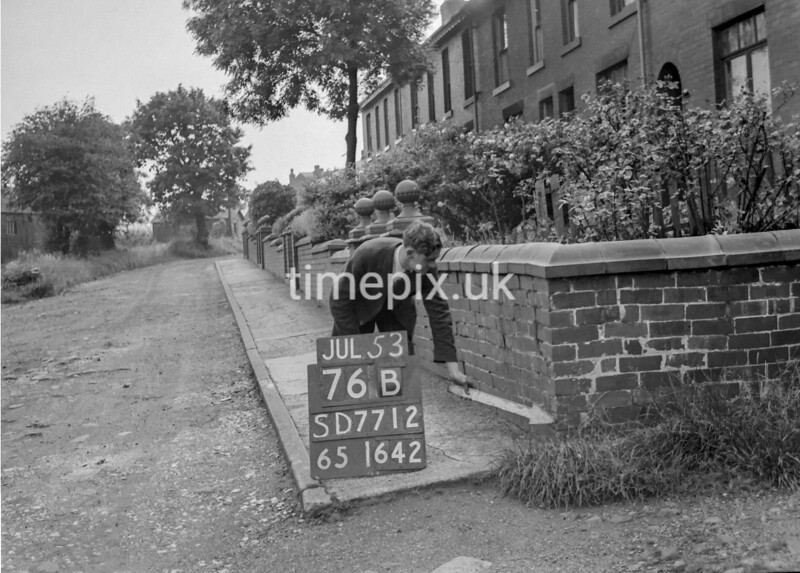 SD771276B, Ordnance Survey Revision Point photograph in Greater Manchester