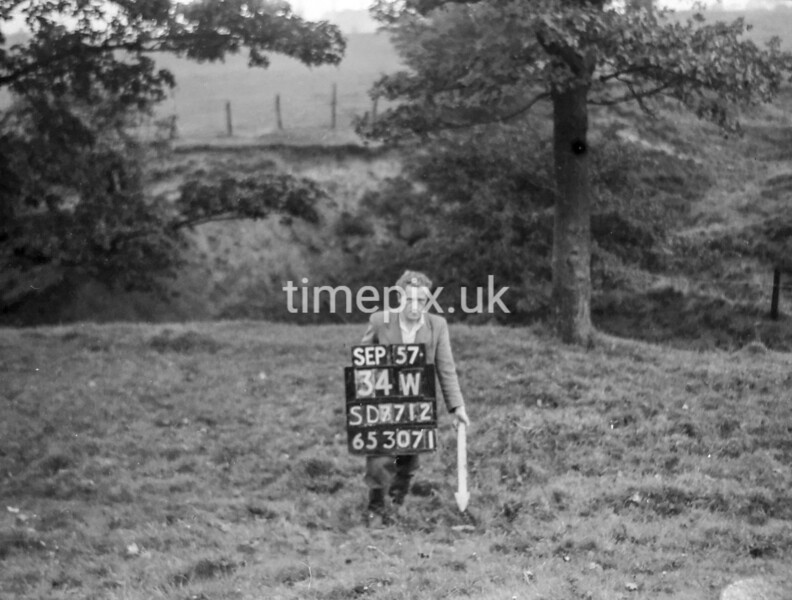 SD771234W, Ordnance Survey Revision Point photograph in Greater Manchester
