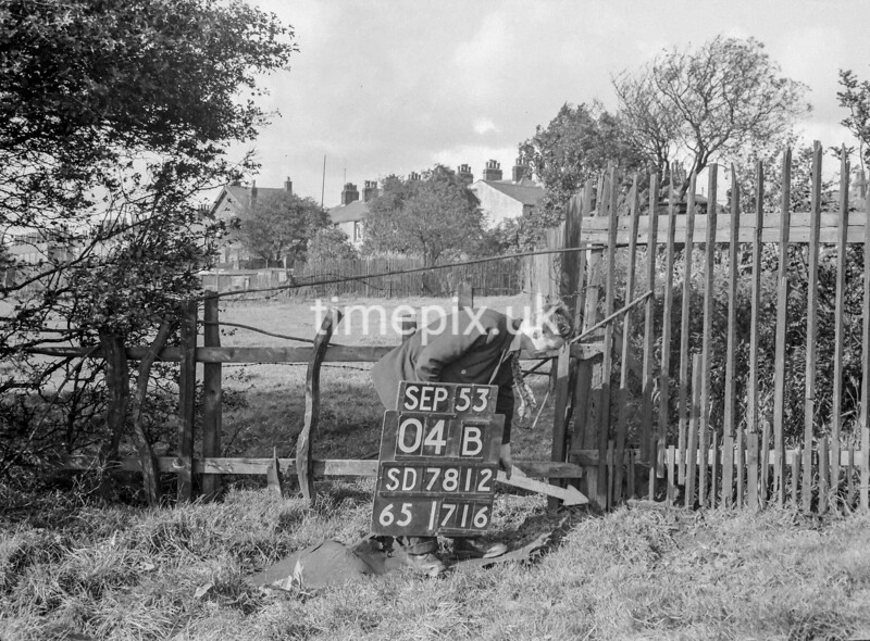 SD781204B, Ordnance Survey Revision Point photograph in Greater Manchester