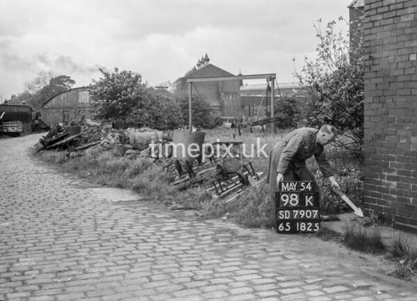 SD790798K, Ordnance Survey Revision Point photograph in Greater Manchester