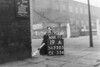 SD730519A, Man marking Ordnance Survey minor control revision point with an arrow in 1940s