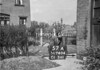 SD740457A, Man marking Ordnance Survey minor control revision point with an arrow in 1940s