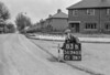 SD740583B, Man marking Ordnance Survey minor control revision point with an arrow in 1940s