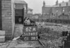 SD740562A1, Man marking Ordnance Survey minor control revision point with an arrow in 1940s