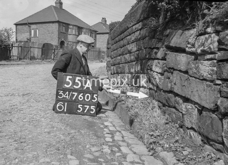 SD760555A, Ordnance Survey Revision Point photograph in Greater Manchester